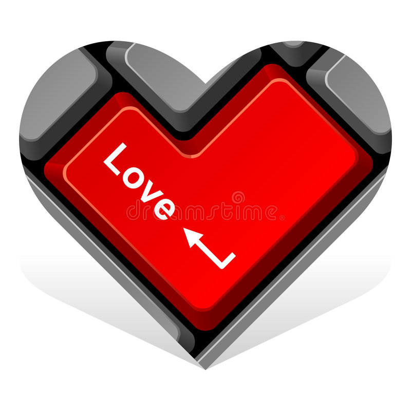 O coração 15. incorpora o amor ilustração royalty free