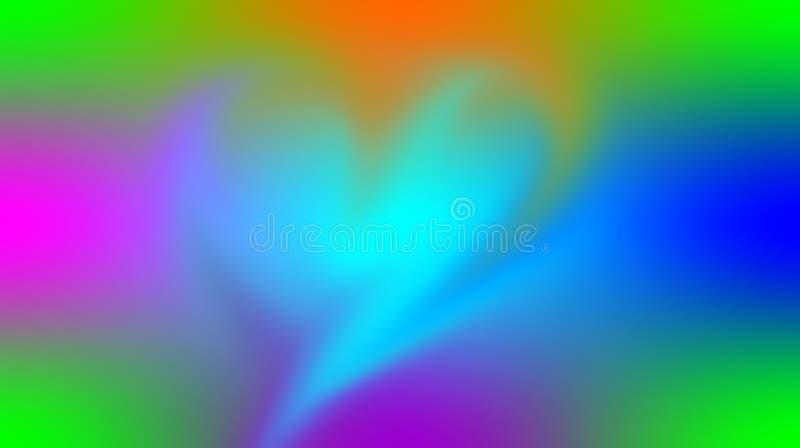 O coração colorido do vetor do sumário textured o fundo com efeito da luz, ilustração do vetor ilustração stock