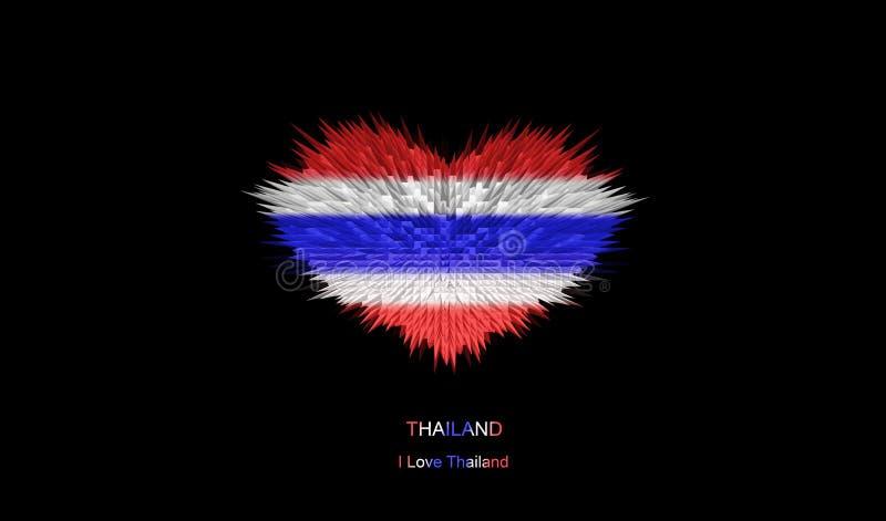 O coração da bandeira de Tailândia ilustração stock
