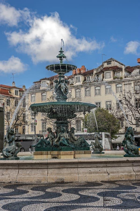 O coração da Lisboa - a área do ‹Rússia do †do ‹do †fotografia de stock