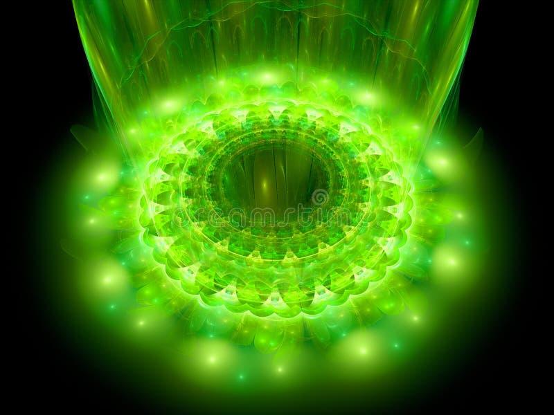 O coração da mandala verde ilustração do vetor