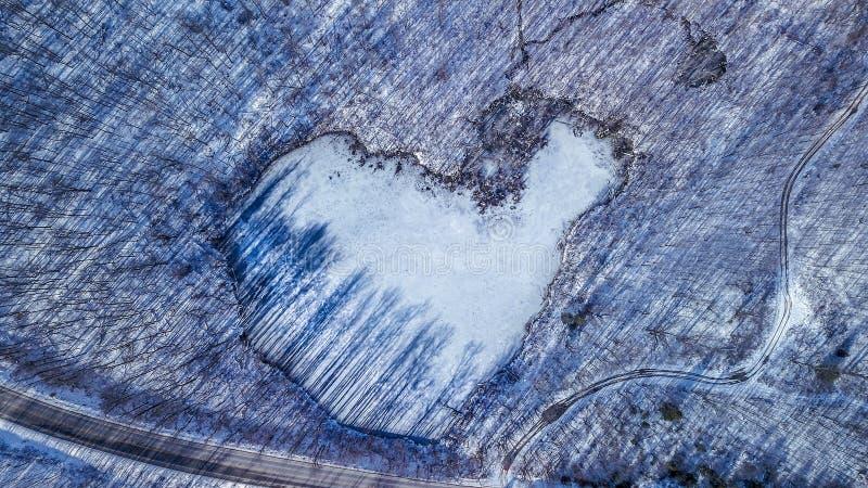O coração do inverno fotografia de stock royalty free