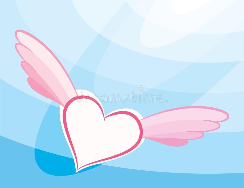 O coração voa o céu ilustração royalty free