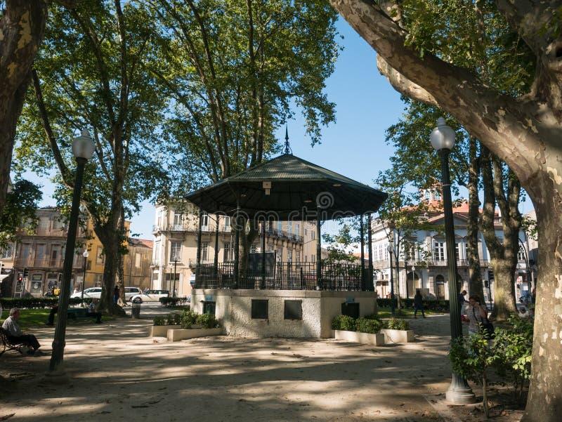 O coreto/miradouro históricos velhos nas marcas jardina, porto, Portugal imagens de stock royalty free