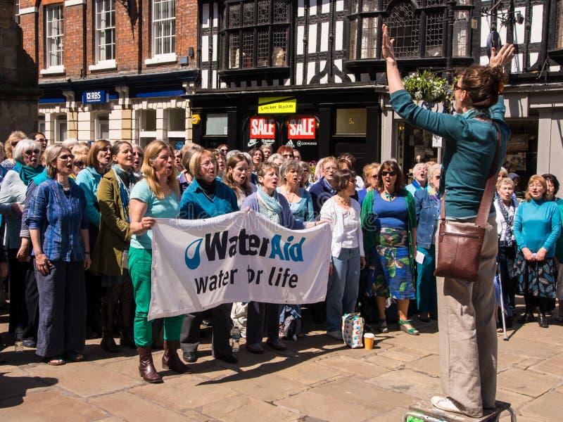 O coro canta para a caridade foto de stock royalty free