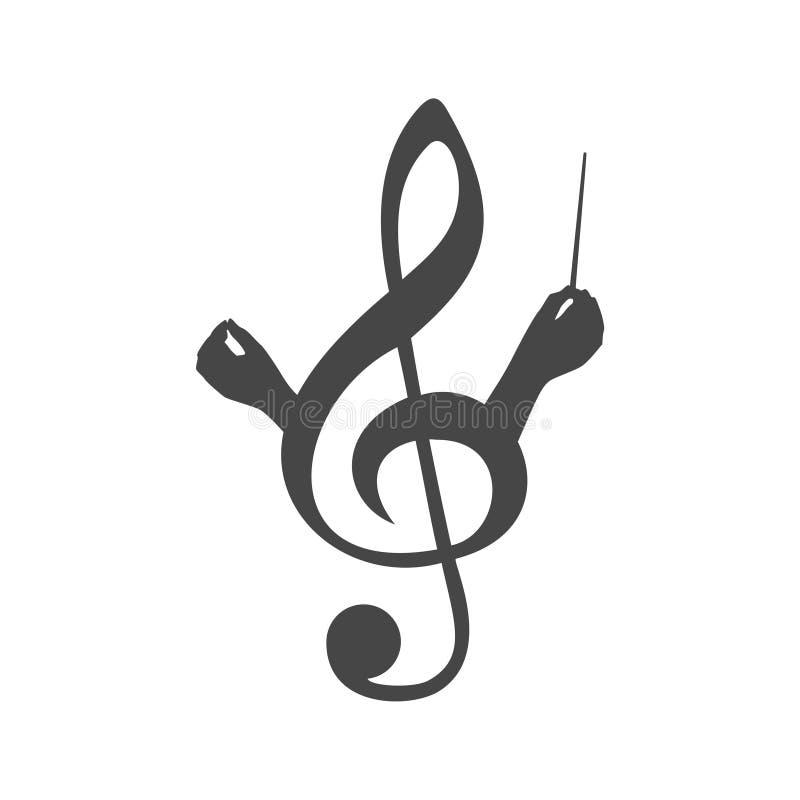 O coro guia o logotipo, ícone do coro ilustração royalty free