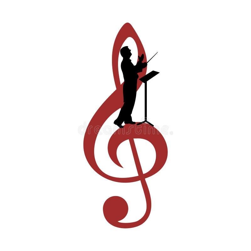 O coro guia o logotipo, ícone do coro ilustração do vetor