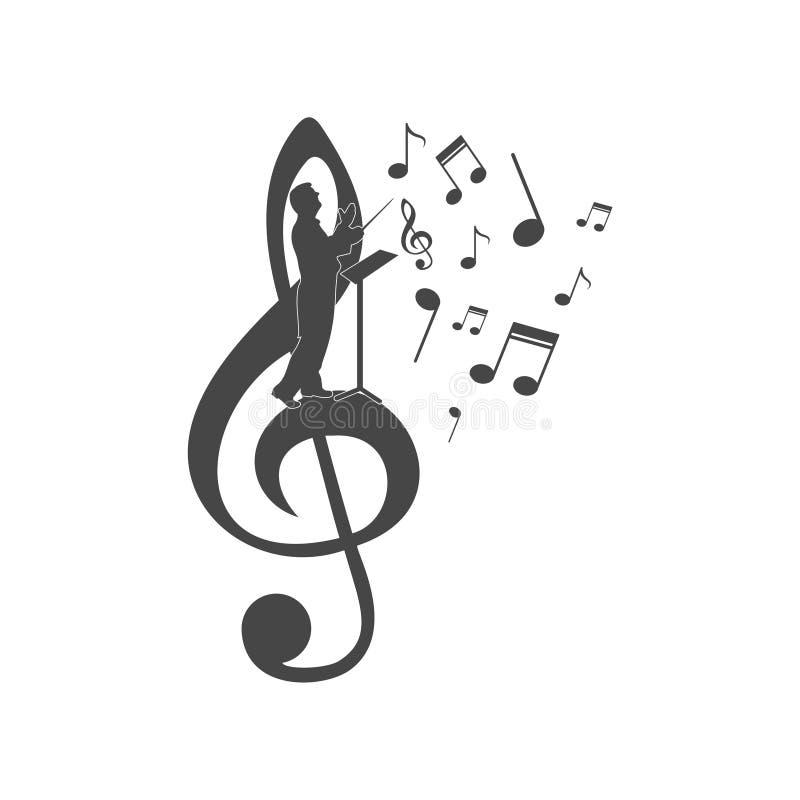 O coro guia o logotipo, ícone do coro ilustração stock