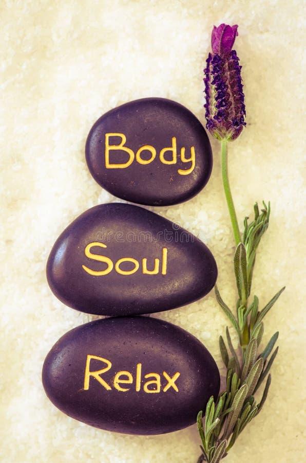 O corpo, alma, relaxa imagem de stock