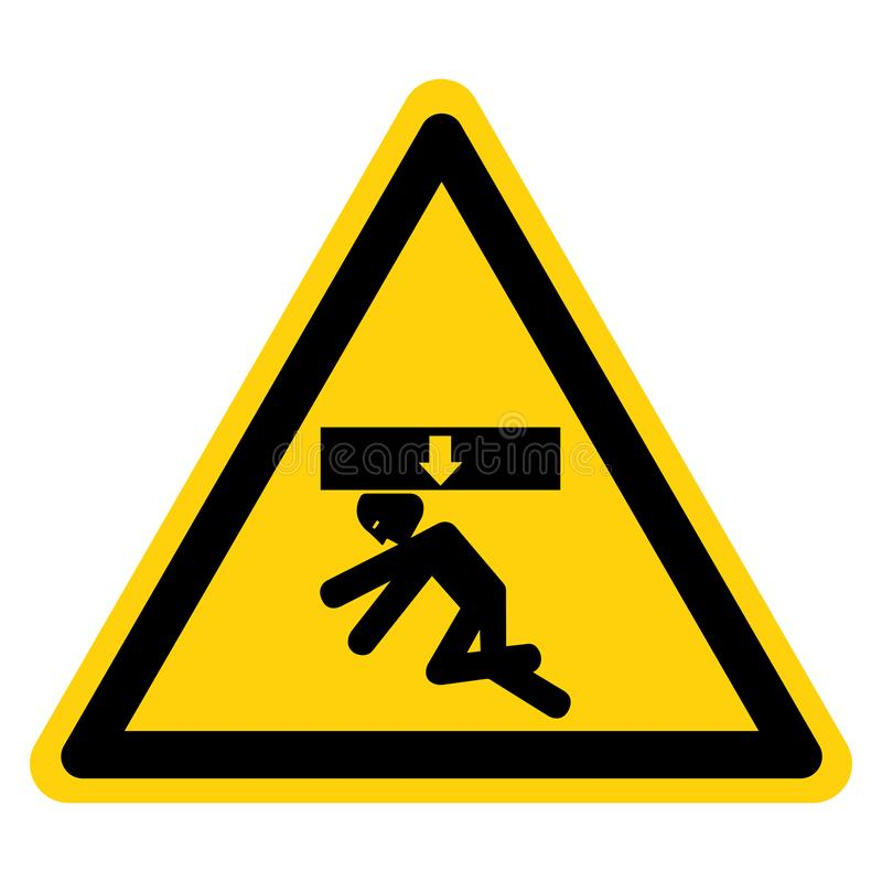 O corpo esmaga a força de cima do sinal do símbolo, ilustração do vetor, isolado na etiqueta branca do fundo EPS10 ilustração do vetor