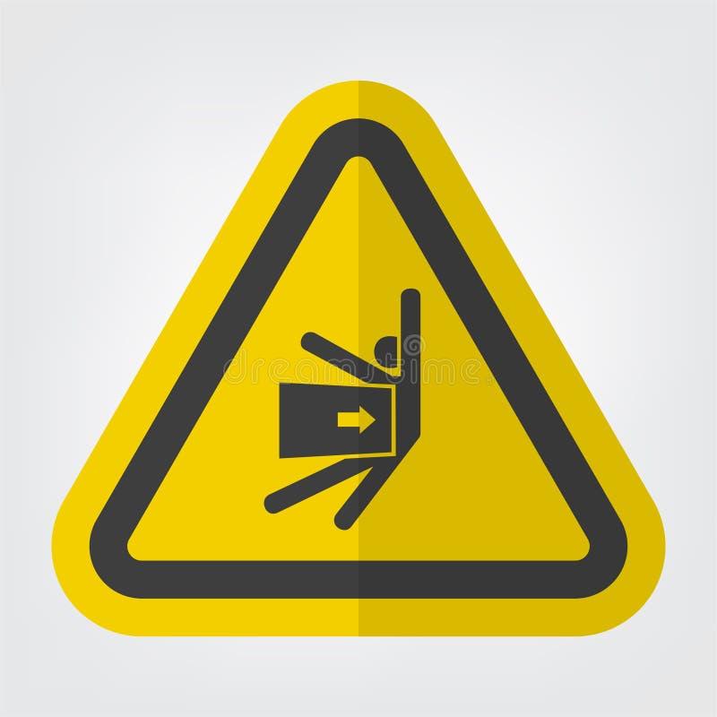 O corpo esmaga a força do isolado lateral do sinal do símbolo no fundo branco, ilustração EPS do vetor 10 ilustração do vetor
