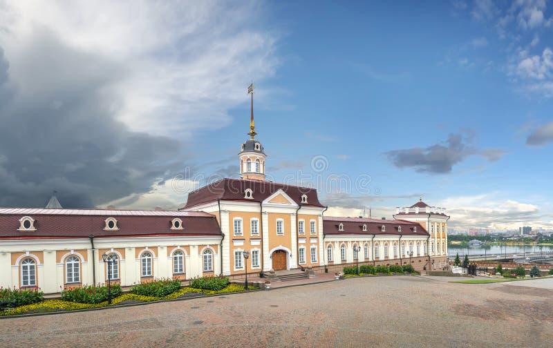 O corpo principal da corte da artilharia no Kremlin de Kazan kazan imagem de stock
