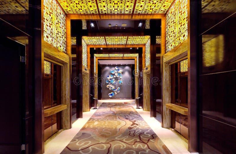 O corredor do hotel imagens de stock royalty free