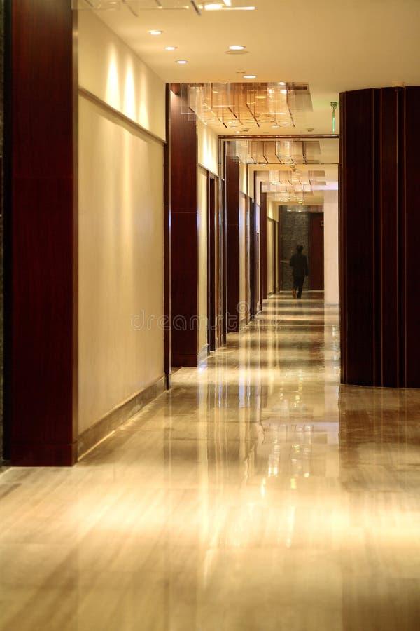 O corredor do hotel imagem de stock royalty free