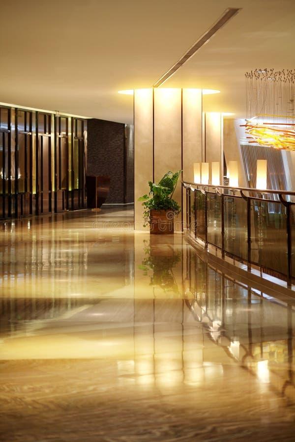 O corredor do hotel imagens de stock