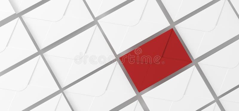 O correio rotula a vista superior ilustração stock