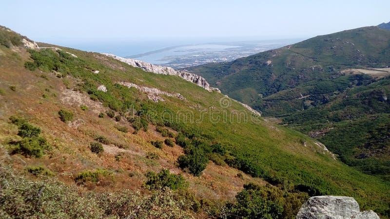 O corsica& x27; paysages de s fotografia de stock