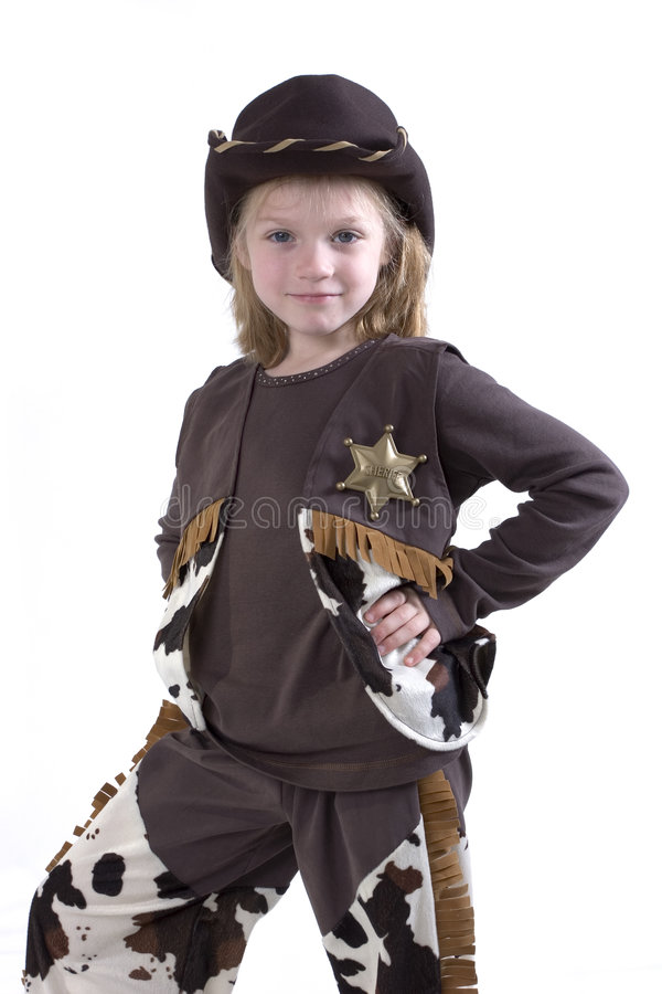 O cowgirl pequeno o mais bonito fotografia de stock