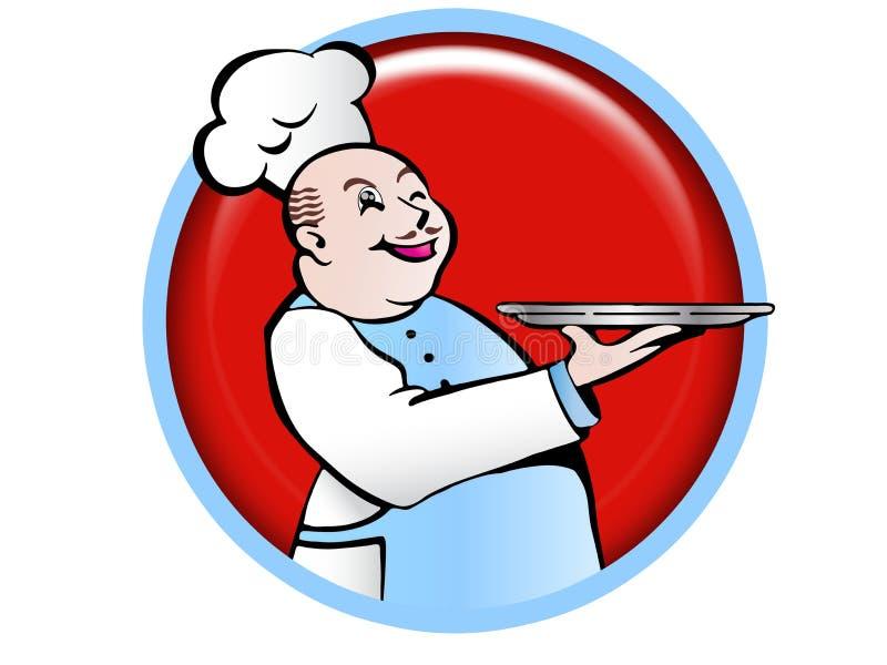 O cozinheiro chefe ilustração royalty free