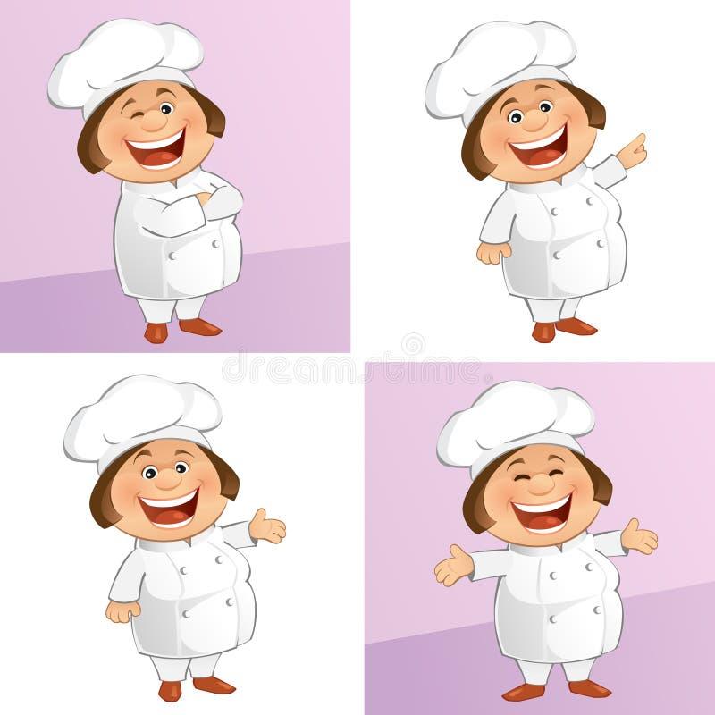 O cozinheiro chefe ilustração stock