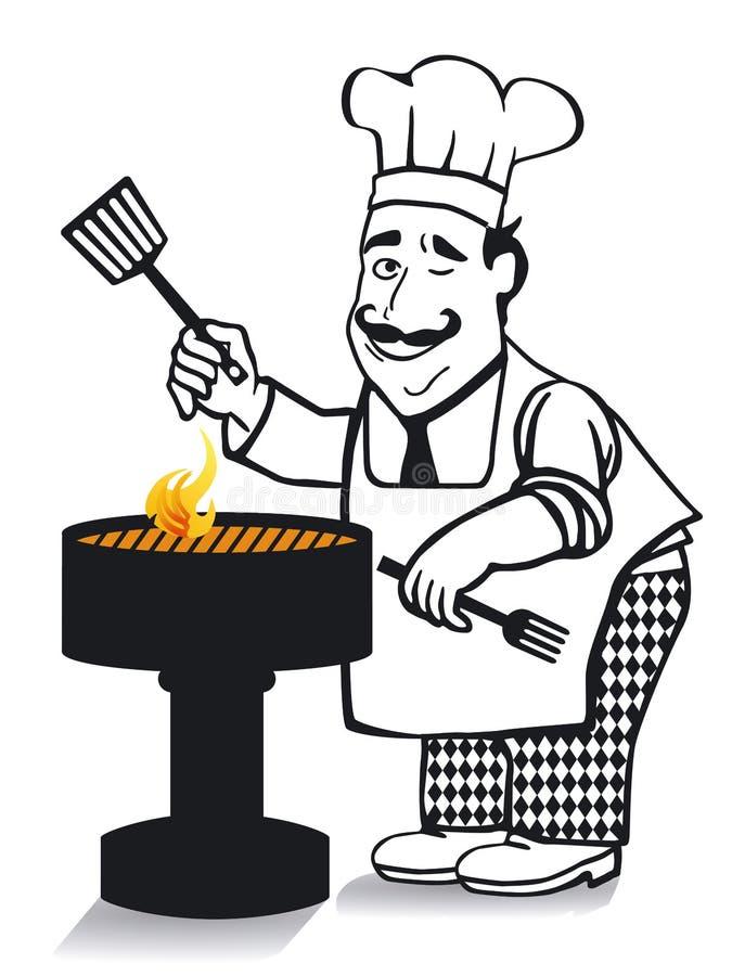 O cozinheiro principal ilustração do vetor
