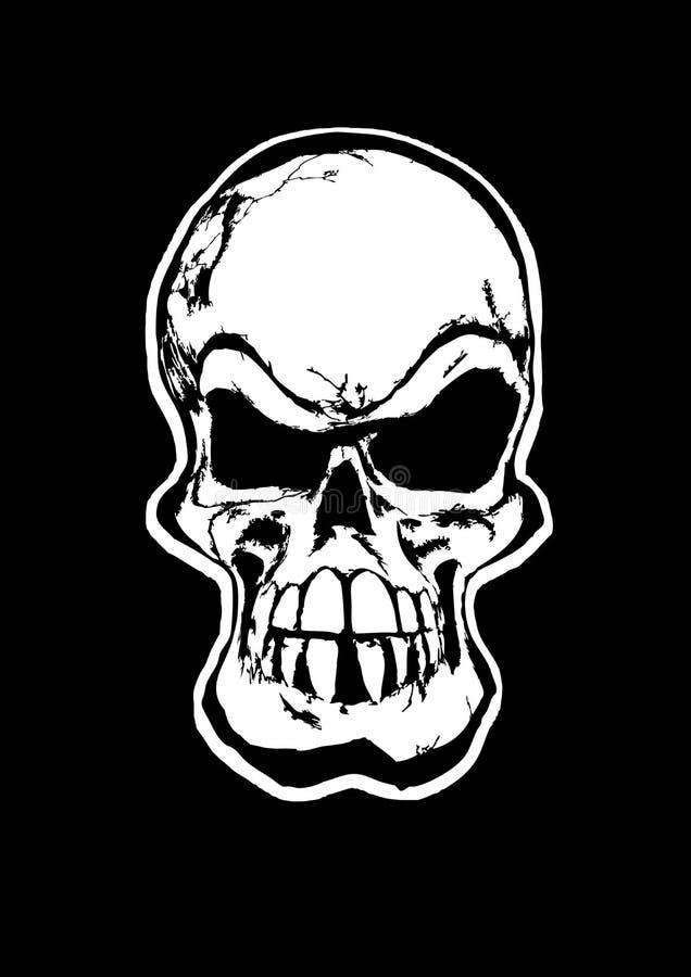 O crânio ilustração royalty free