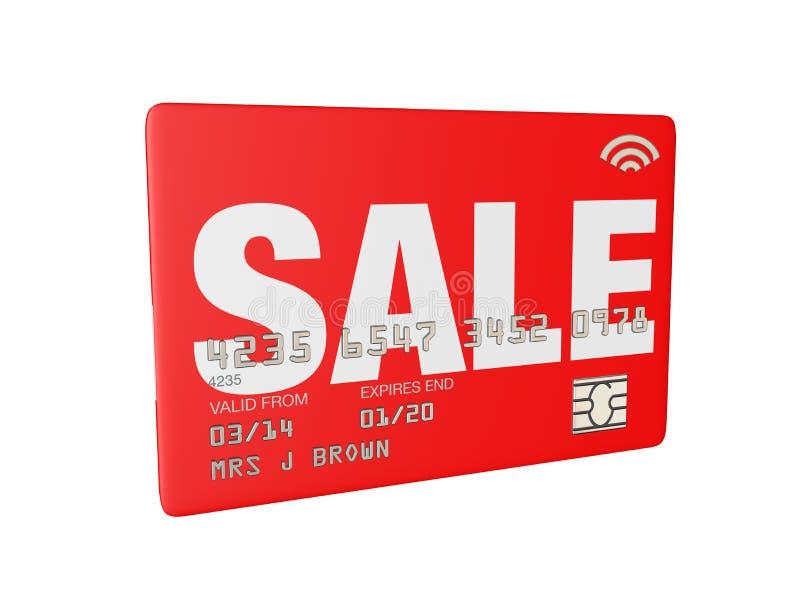 O crédito de venda ou o cartão 3d da loja rendem ilustração stock