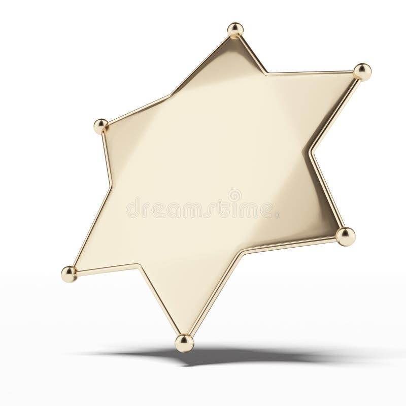 o crachá do xerife dourado ilustração royalty free