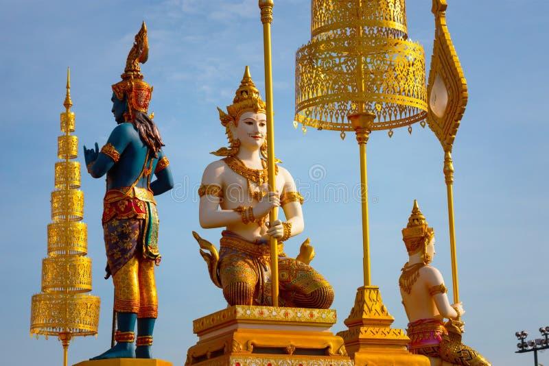 O crematório real de seu rei Bhumibol Adulyadej da majestade em Banguecoque, Tailândia imagem de stock royalty free
