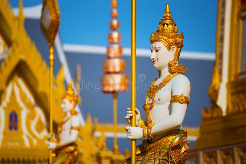 O crematório real de seu rei Bhumibol Adulyadej da majestade em Banguecoque, Tailândia foto de stock