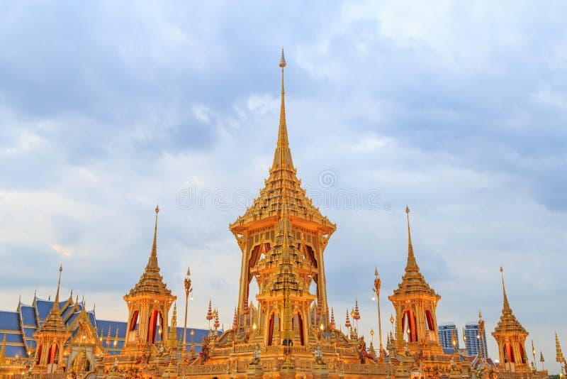 O crematório real do rei Bhumibol Adulyadej imagem de stock royalty free
