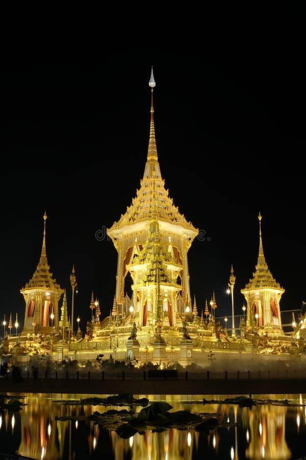 O crematório real em Tailândia fotografia de stock royalty free