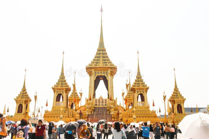 O crematório real para o HM o rei atrasado Bhumibol Adulyadej no 4 de novembro de 2017 foto de stock royalty free
