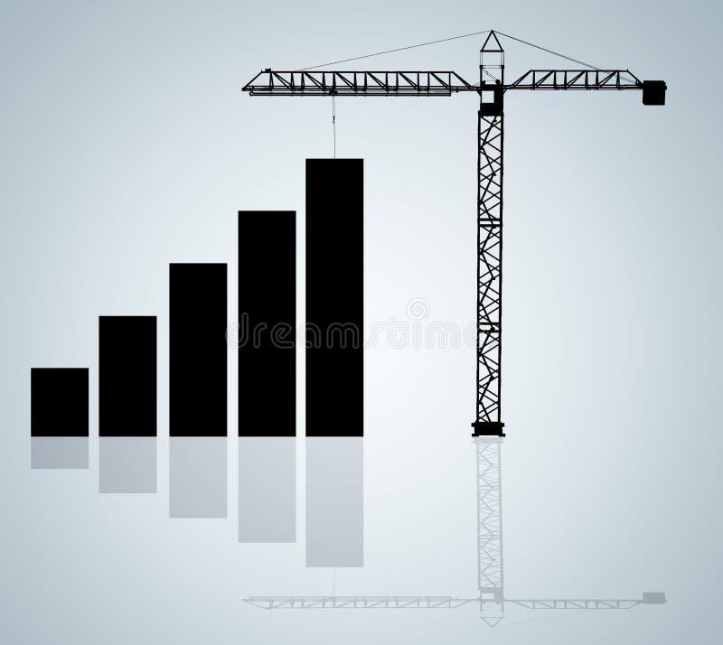 O crescimento ilustração do vetor