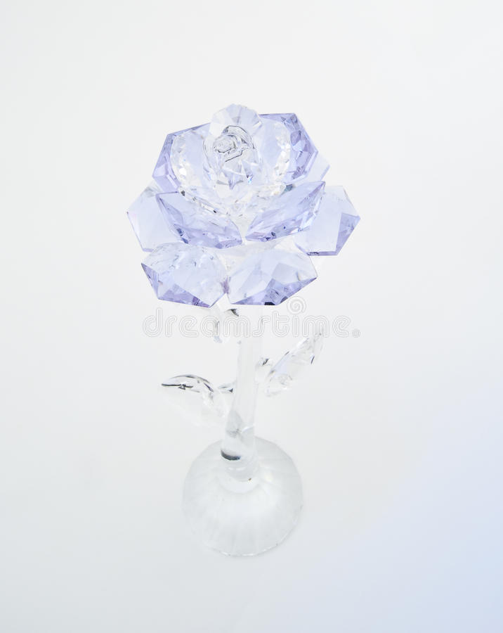 O cristal violeta levantou-se fotografia de stock royalty free
