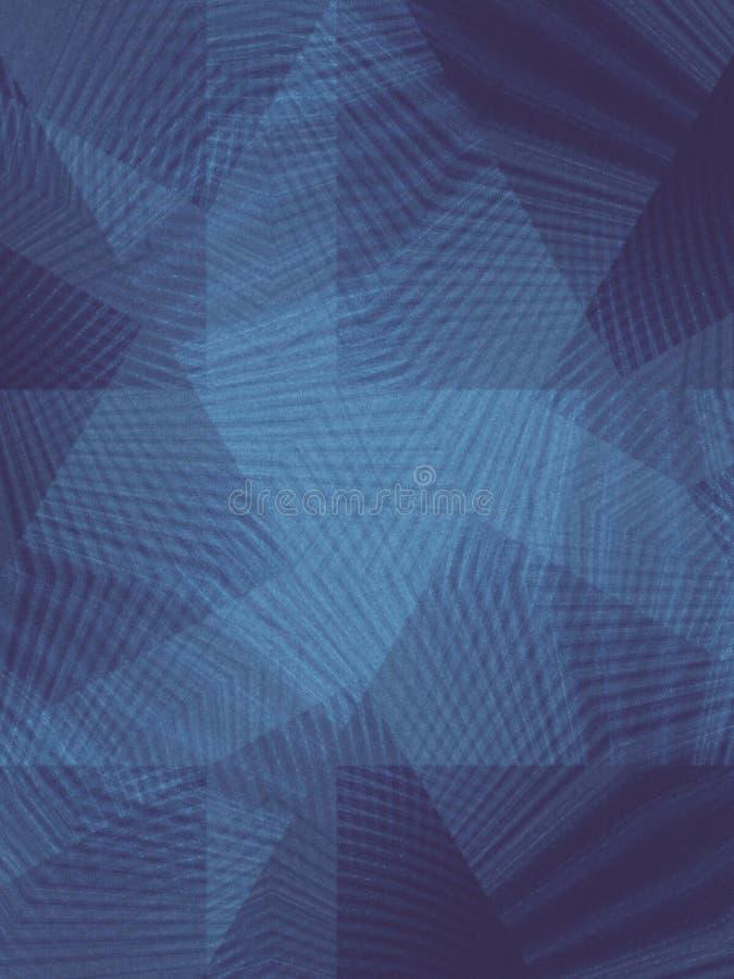 O cruzamento alinha o azul do teste padrão ilustração royalty free