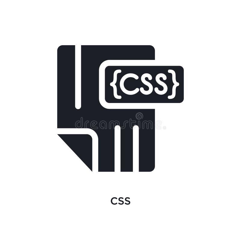 o css isolou o ícone ilustração simples do elemento dos ícones de programação do conceito projeto editável do símbolo do sinal do ilustração royalty free