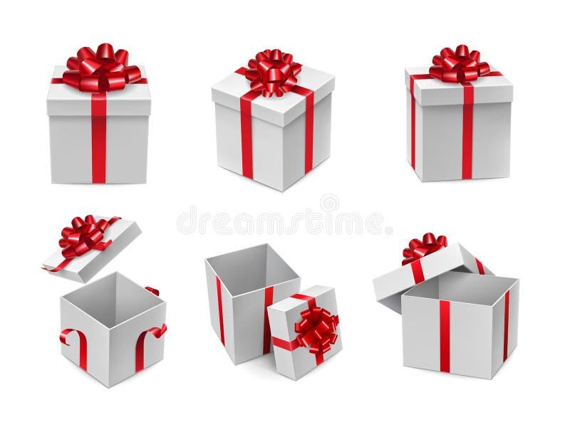 O cubo branco diferente deu forma a caixas ilustração do vetor