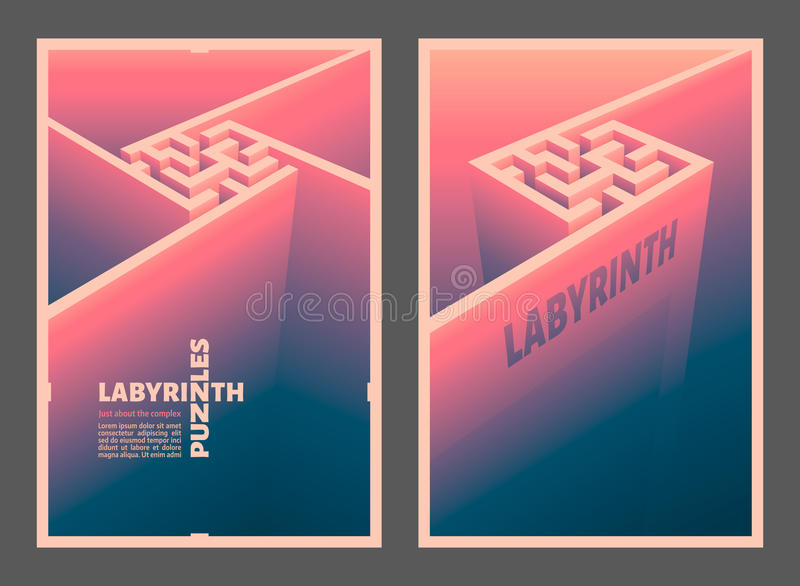 O cubo do labirinto fotografia de stock