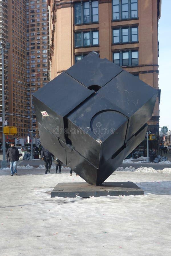 O cubo em Astor Place imagem de stock