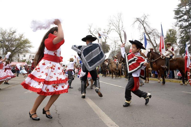 O cueca, dança nacional do Chile imagem de stock