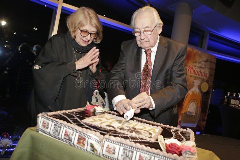 90.o cumpleaños del director de cine polaco famoso Andrzej Wajda imagen de archivo