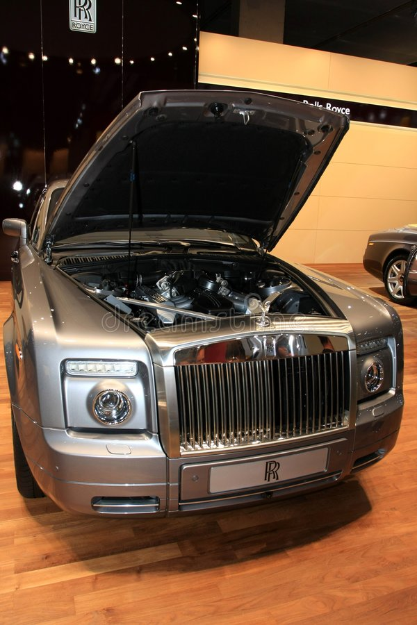 O cupé do fantasma de Rollce-Royce fotos de stock royalty free