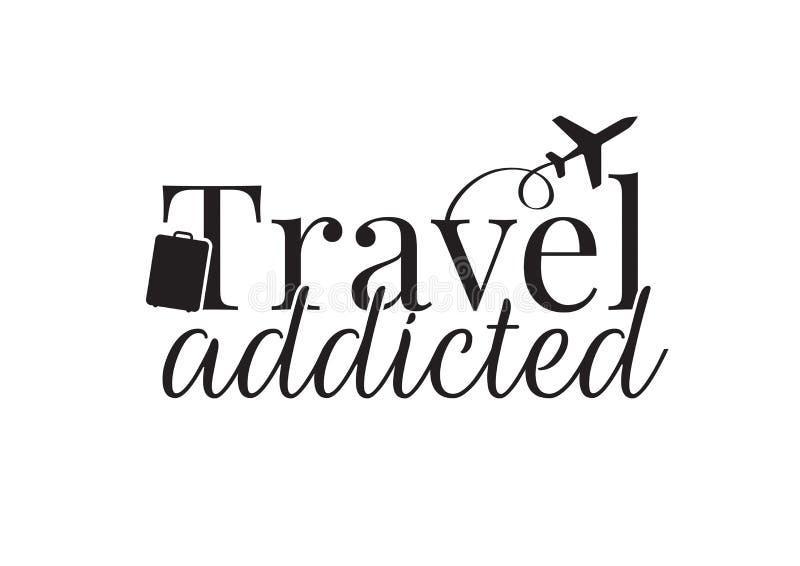 O curso dedicou-se, exprimindo o projeto, avião do voo, vetor da mala de viagem isolado no fundo branco ilustração do vetor