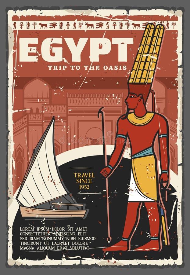 O curso e os Nilo antigos da cultura de Egito tropeçam excursões ilustração royalty free
