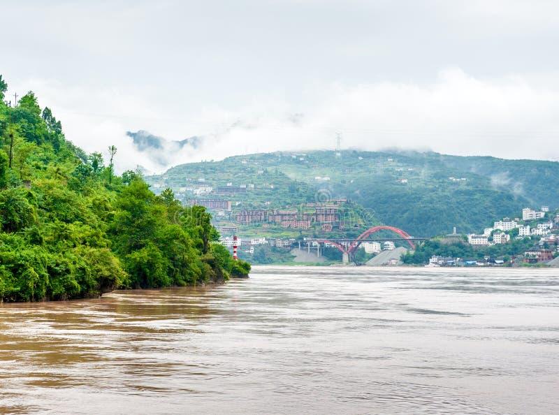 O curso no Yangtze Rive imagens de stock