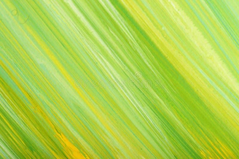 O curso pintado à mão abstrato verde da escova do guache lambuza a textura do fundo ilustração do vetor