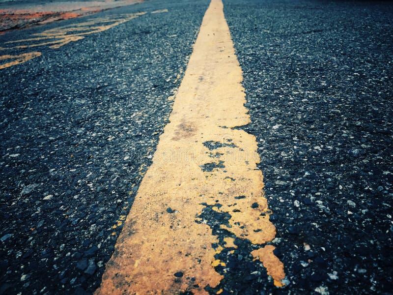 O curso tem obstáculos A estrada ainda tem que ir sobre foto de stock