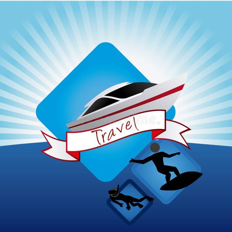 O curso vacations ícones ilustração stock