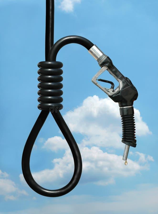 O custo da gasolina fotografia de stock royalty free
